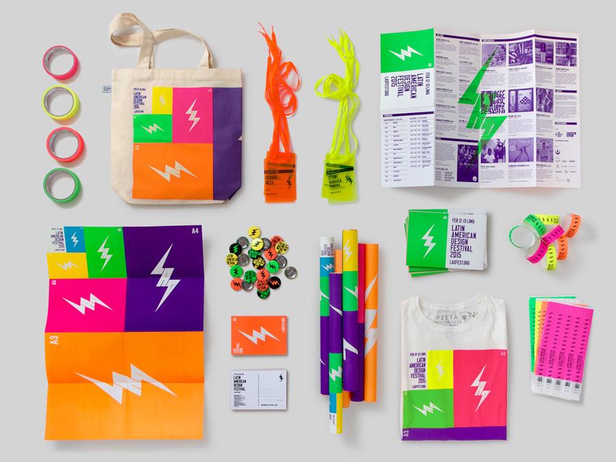 拉丁美洲设计节形象品牌设计,vi设计