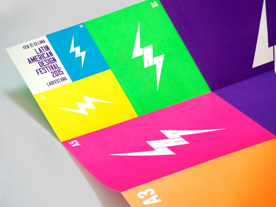 拉丁美洲设计节形象品牌设计,折页设计