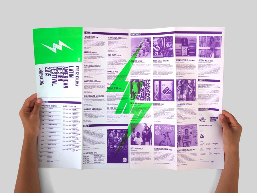 拉丁美洲设计节形象品牌设计,小册子设计