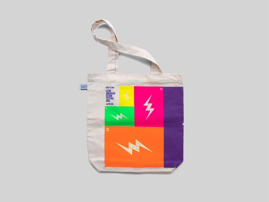 拉丁美洲设计节形象品牌设计,手提袋设计