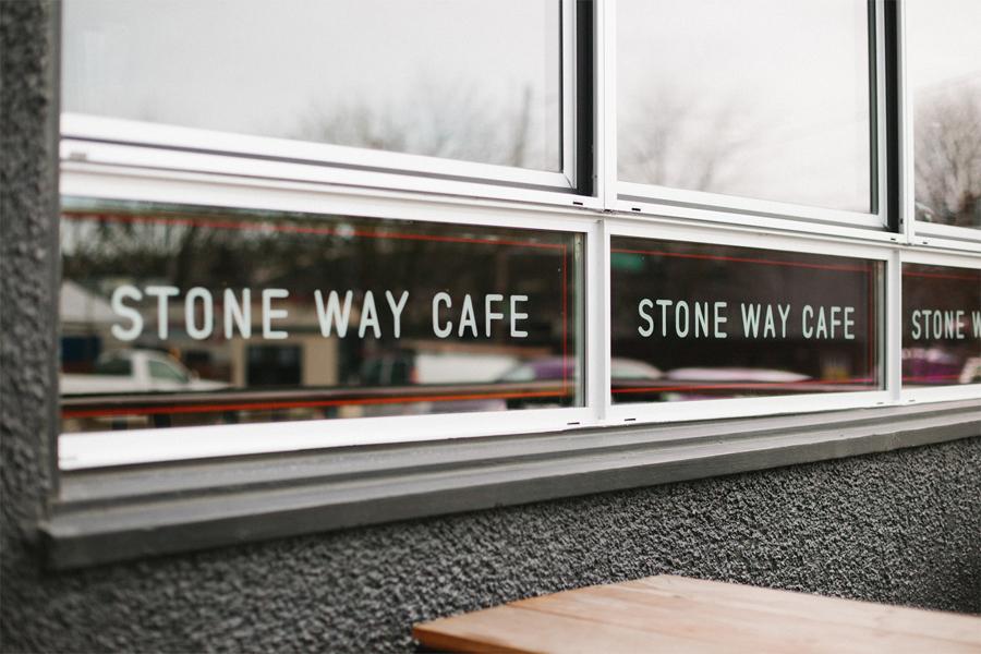 石头路咖啡馆咖啡品牌设计推广,环境导视设计