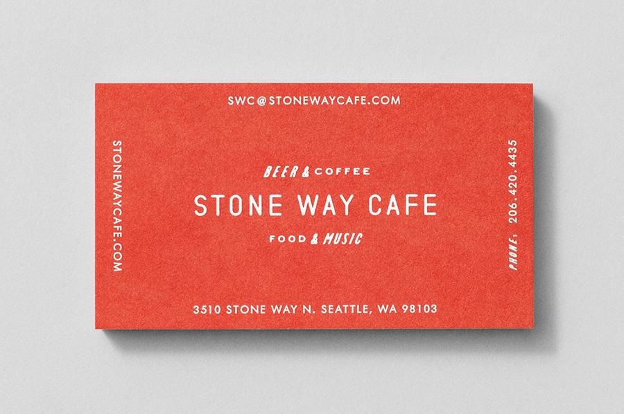 石头路咖啡馆咖啡品牌设计推广,名片设计