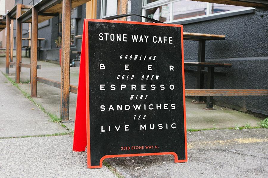 石头路咖啡馆咖啡品牌设计推广,招牌设计