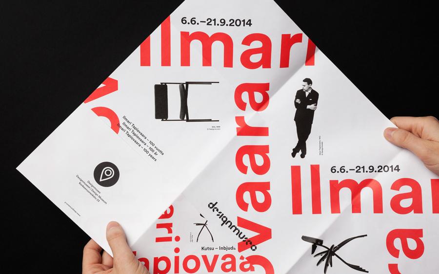 芬兰设计博物馆品牌设计vi设计,折页设计