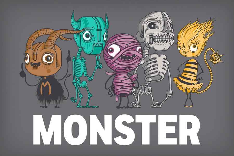 Monster影视娱乐公司国际品牌设计,吉祥物设计
