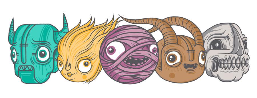 Monster公司国际品牌设计,形象vi设计,卡通形象设计