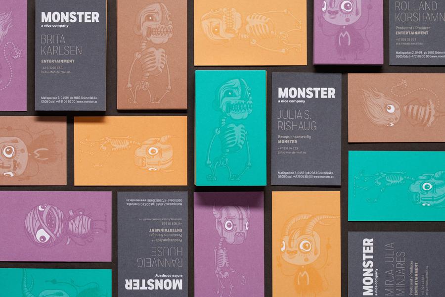 Monster公司国际品牌设计,名片设计