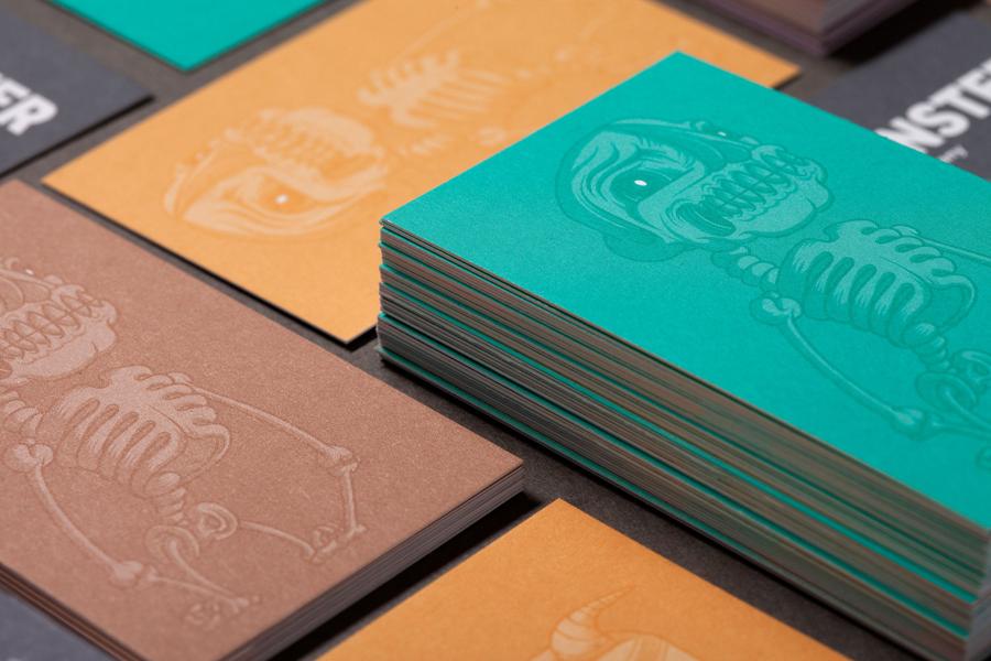 Monster公司国际品牌设计,卡片设计
