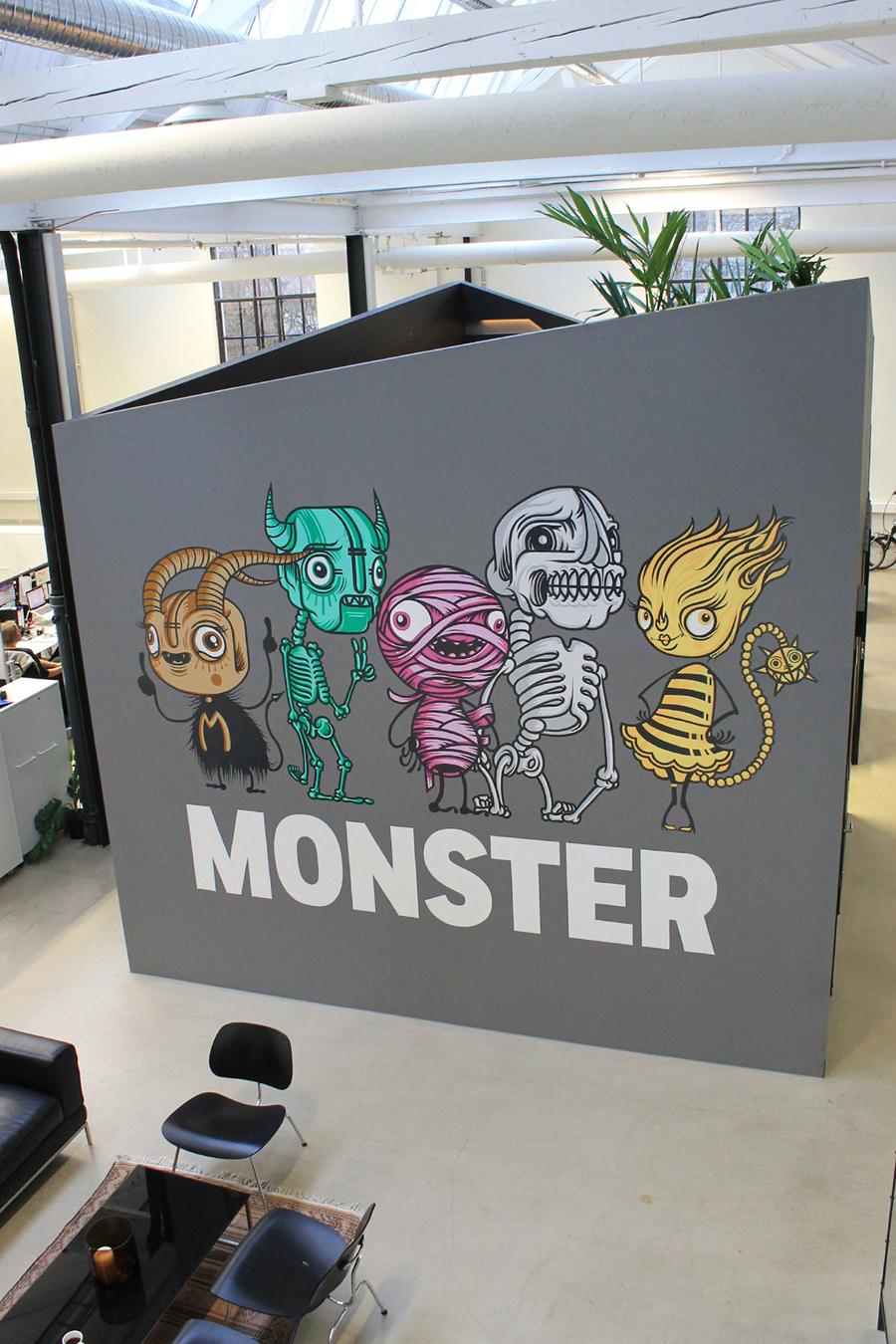 Monster公司国际品牌设计,办公环境设计