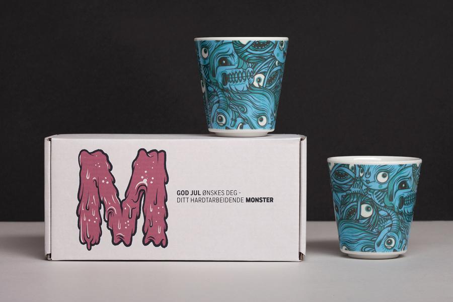 Monster公司国际品牌设计,马克杯设计