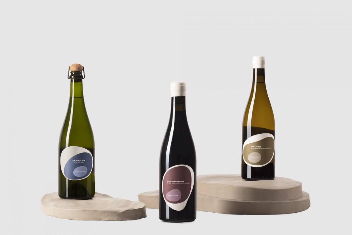 西班牙天然葡萄酒产品外包装设计图