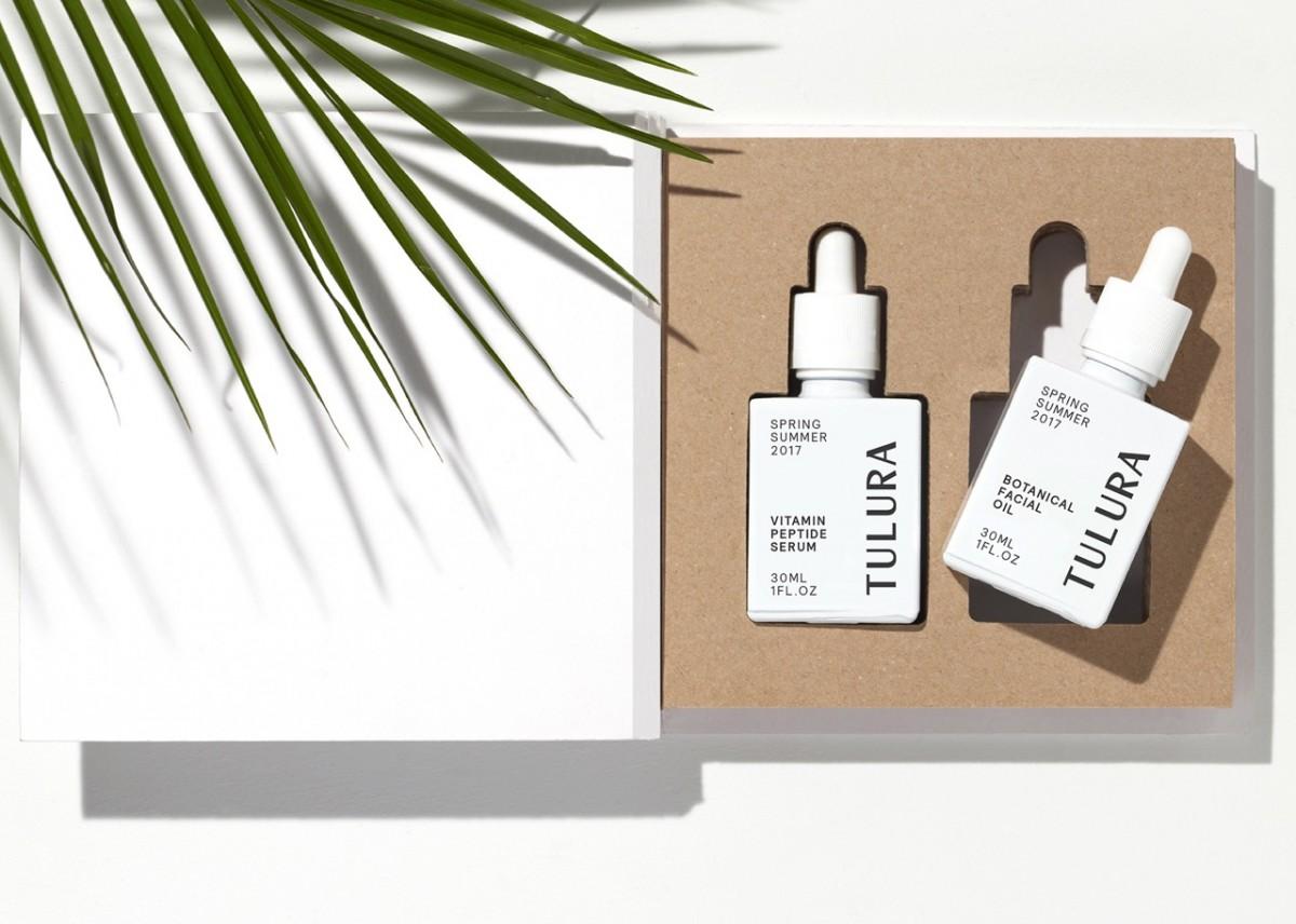 logo type, branding and packaging by Leeds-based design studio Build for New York skincare brand Tulura