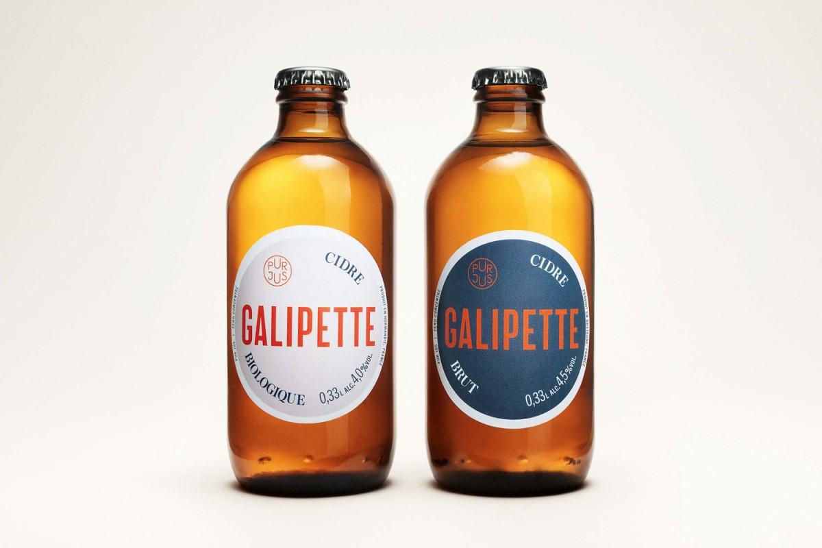 优质苹果酒Galipette产品形象塑造,瓶贴设计