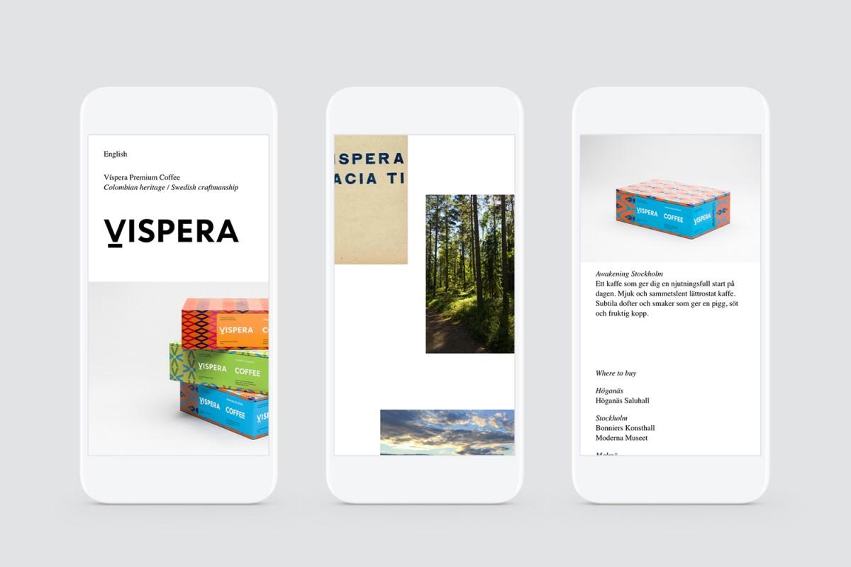 Vispera咖啡品牌vi设计,网站设计