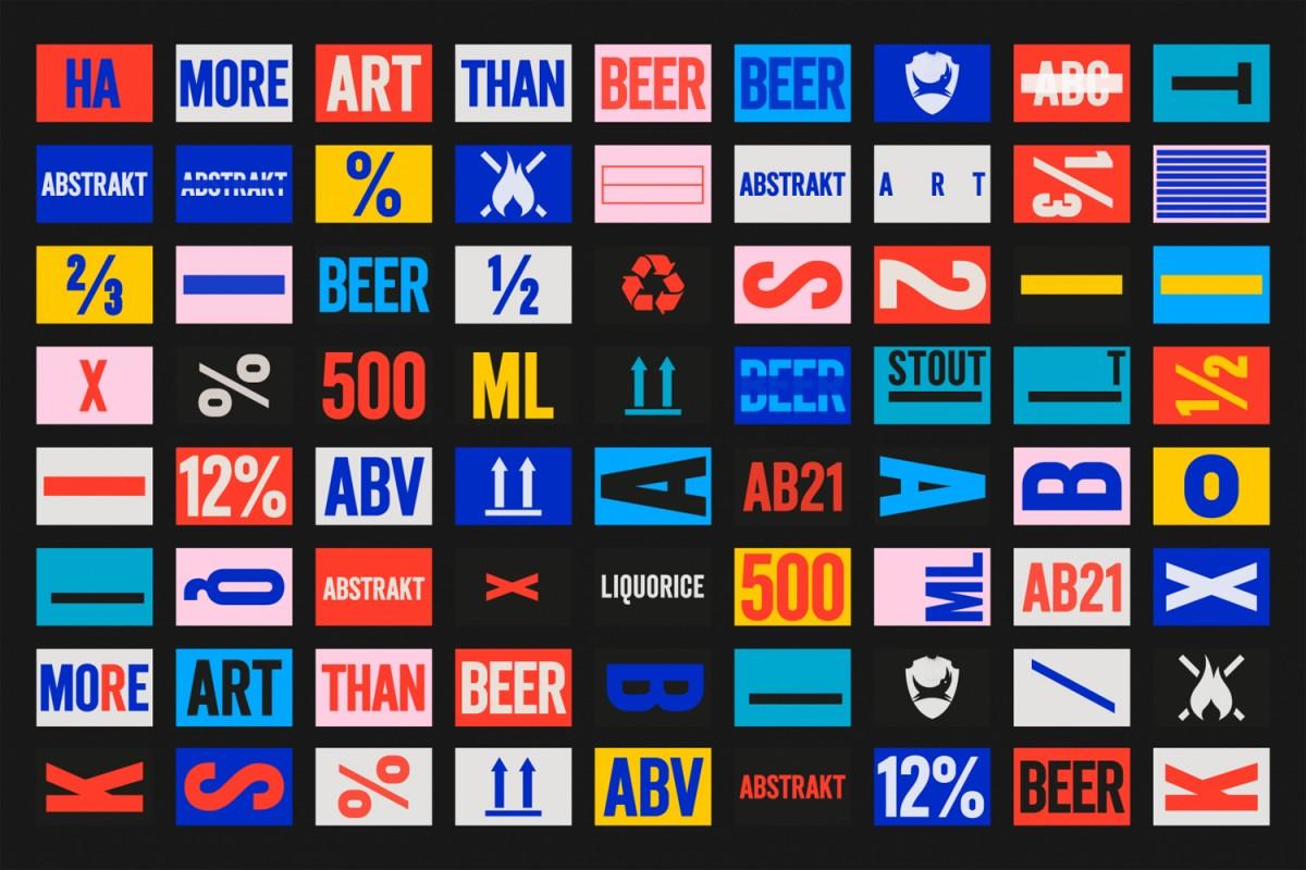 Brewdog限量版精酿啤酒产品形象设计和包装设计系统