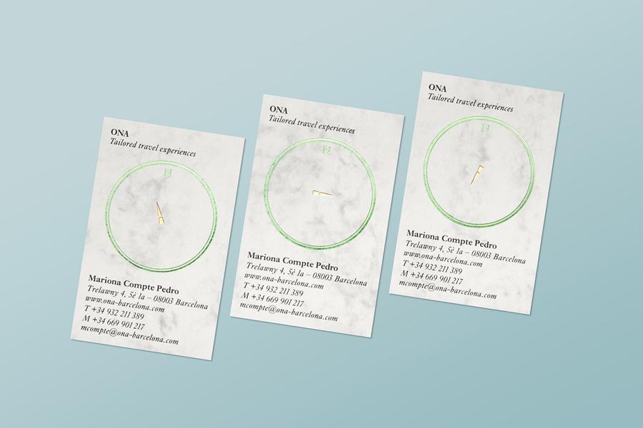 精品旅行社Ona公司vi设计,名片设计
