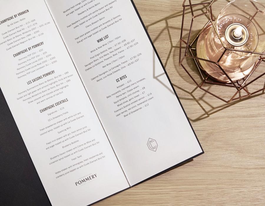 伦敦CCBar酒吧品牌形象塑造vi设计,酒水单设计