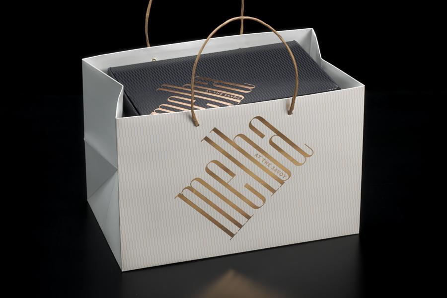 轻食咖啡馆Melba品牌形象策划,品牌形象设计,手提袋设计