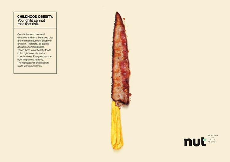 坪山平面设计工作室分享:预防儿童肥胖食品海报设计