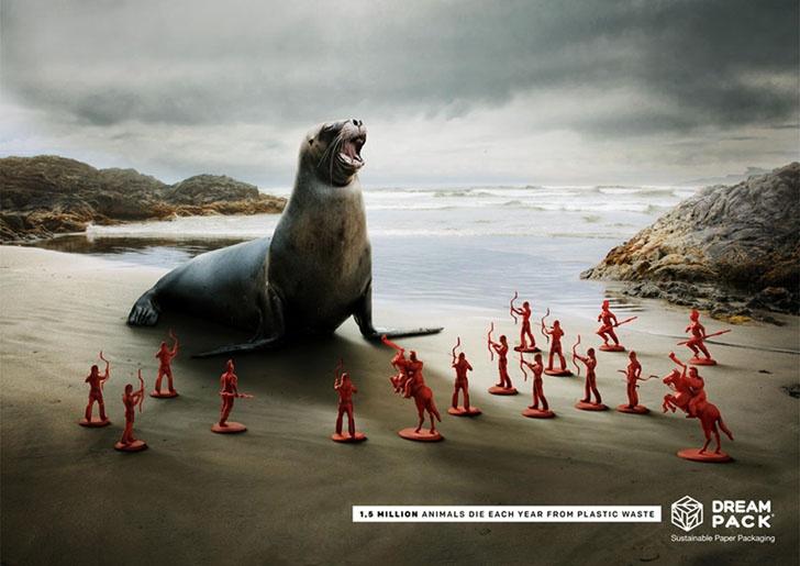 环保可持续包装主题,国外创意海报设计