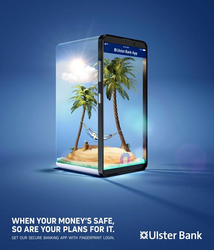 银行金融平面设计作品欣赏: 当资金安全时,你的旅行才安全!