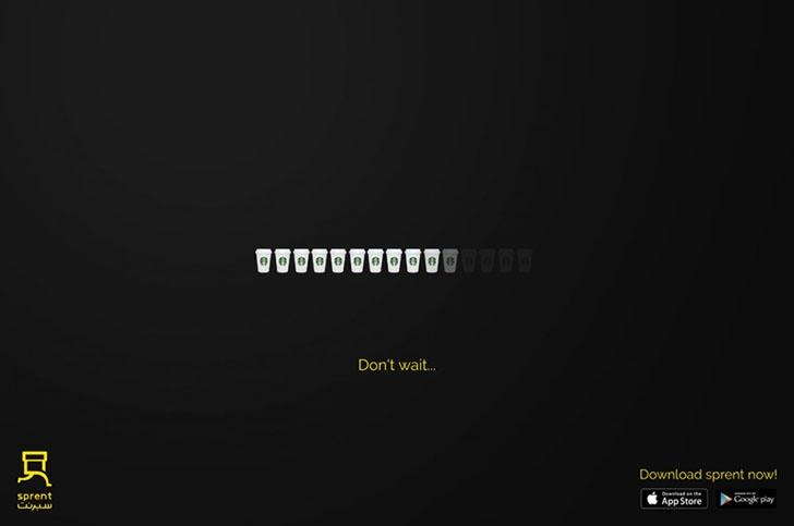 手机应用程序广告平面设计:不用等待