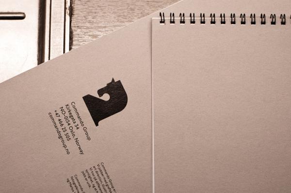 Commando集团企业logo设计 ,笔记本设计
