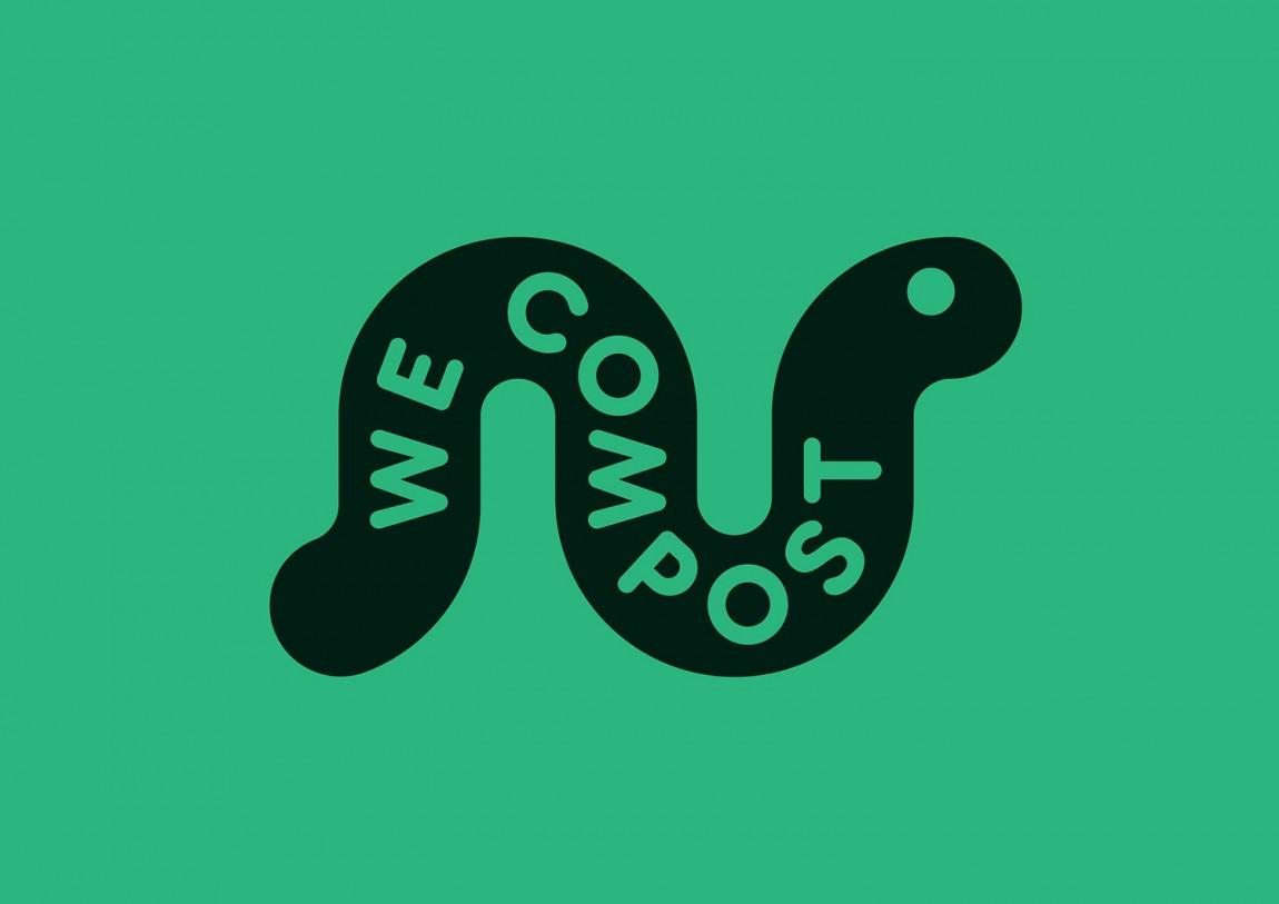 WeCompost城市垃圾分类处理公司品牌设计策划,logo设计
