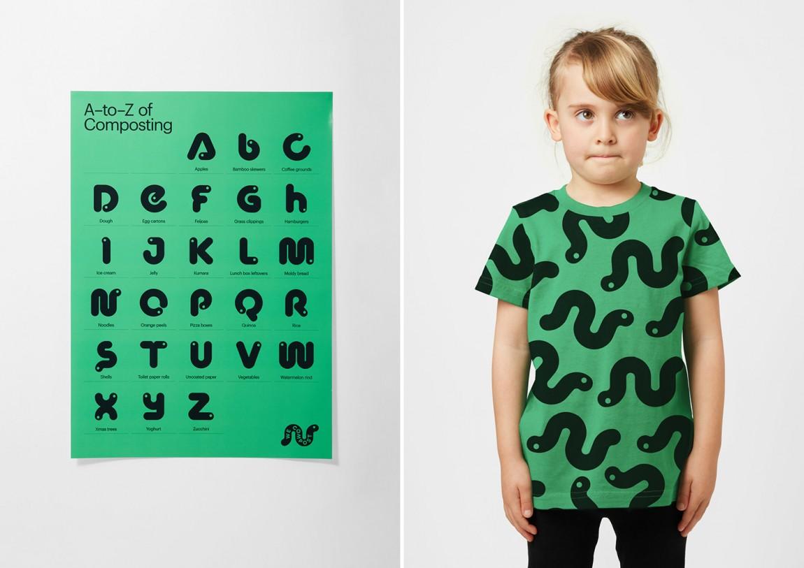 WeCompost城市垃圾分类处理公司品牌设计策划,海报设计