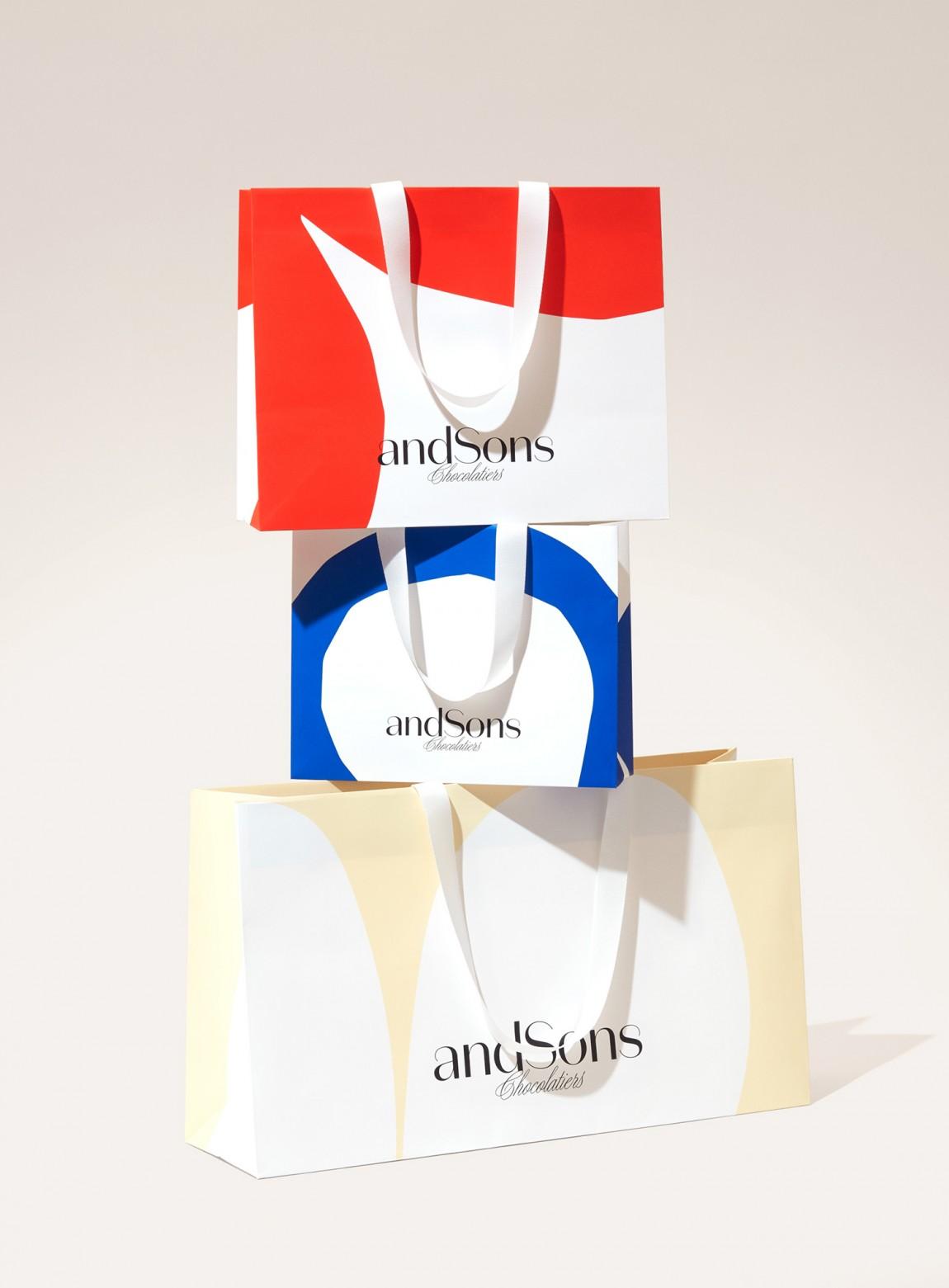 andSons视觉vi设计,logo设计,字体设计,手提袋设计