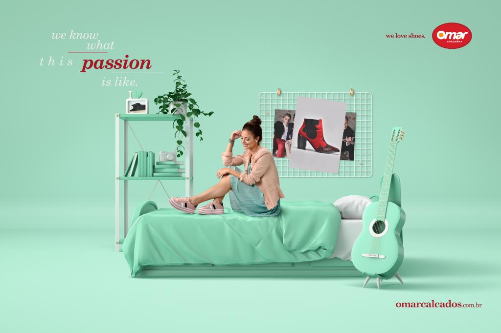 omar鞋品牌户外广告设计: 我们知道这种激情是什么