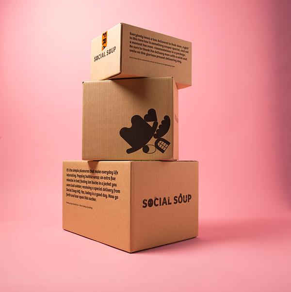 SocialSoup主视觉形象设计,有趣的品牌设计