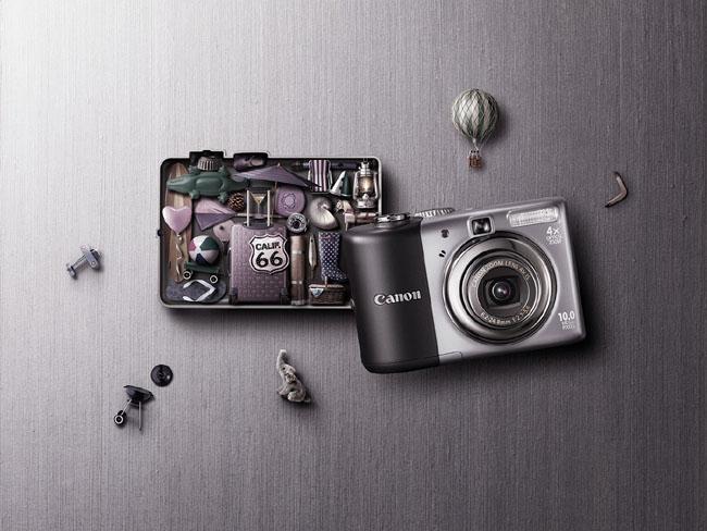 长沙广告设计公司整理:佳能相机广告设计作品