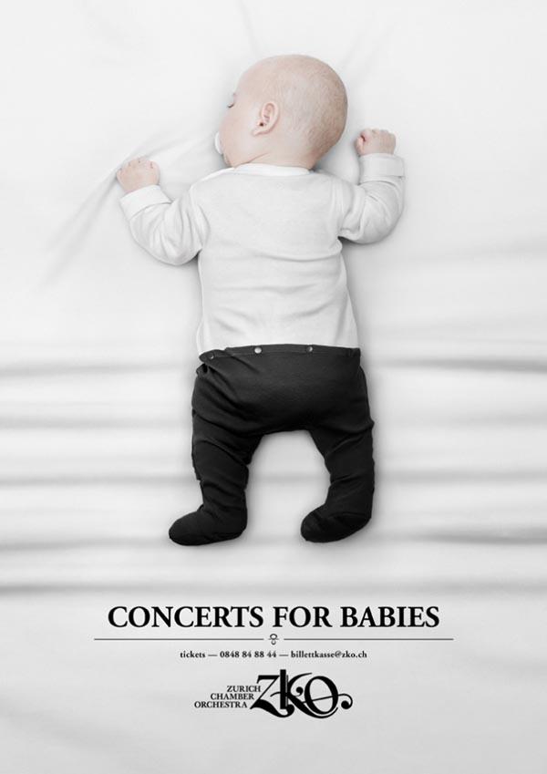 婴儿concerts获奖海报设计