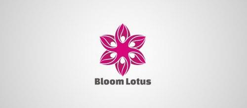 28个莲花图形企业logo设计