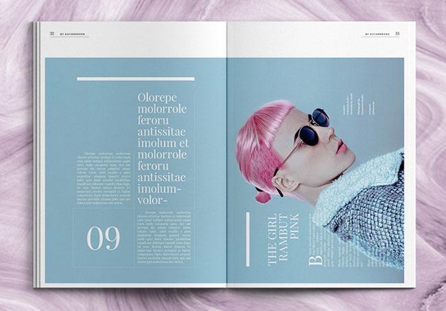 时尚行业宣传画册设计
