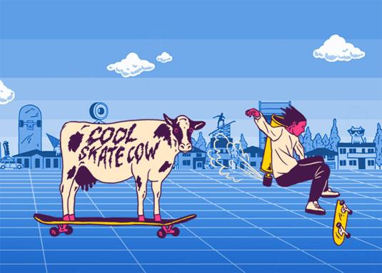 红牛插图设计,插画设计