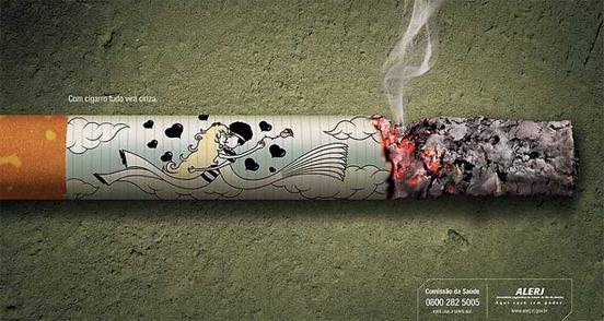 深圳广告设计公司整理:52个禁烟公益广告设计