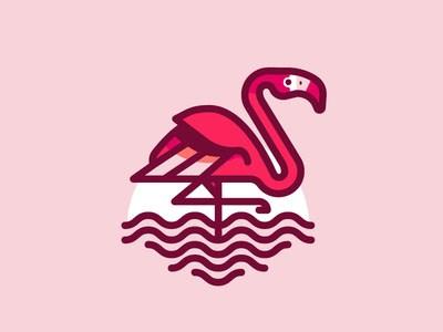 30个专业火烈鸟logo设计作品