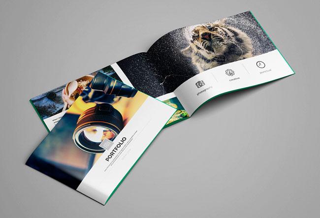摄影公司品牌画册设计,简约大气国际化