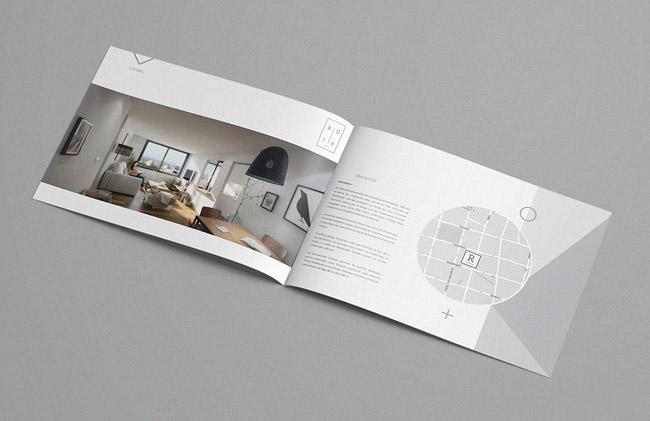 简约灰色公寓宣传画册设计版式欣赏