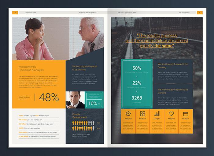 企业年报画册设计排版欣赏