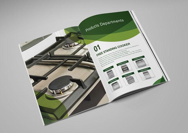 北京画册设计公司分享案例:灶具品牌画册版式设计