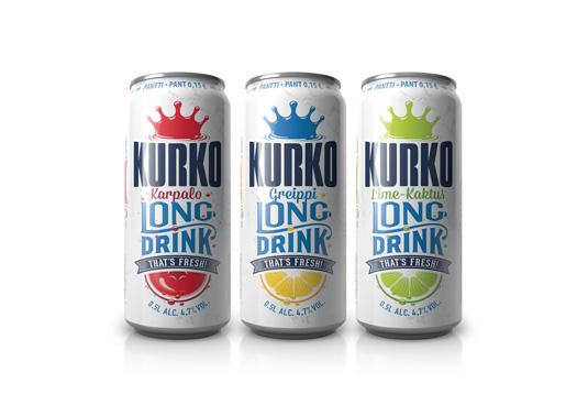 芬兰饮料品类之王Kurko品牌包装设计,让老品牌焕发新生