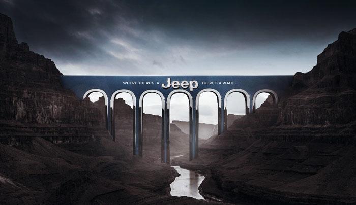 北京广告设计公司整理:Jeep汽车广告设计