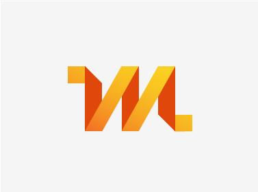 厦门商标设计公司推荐:27个折叠立体效果Logo商标设计