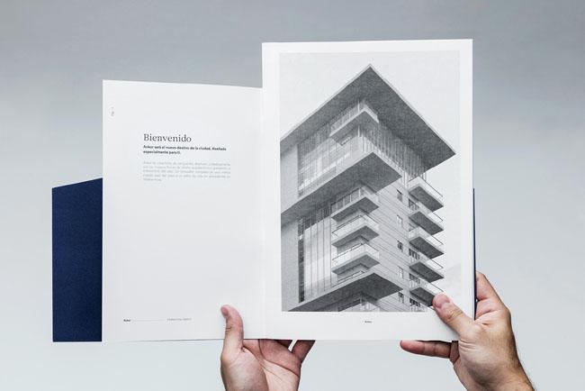 奢华有涵养的房地产画册设计
