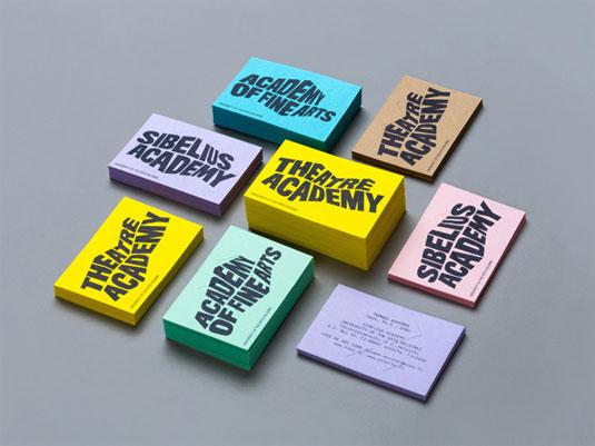 色彩缤纷、引人注目的外国艺术设计学校vi设计