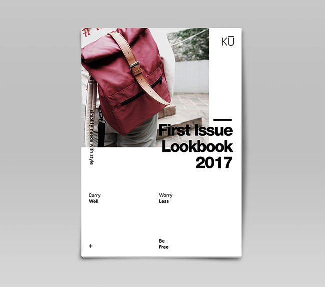 时尚背包品牌KU广告画册设计