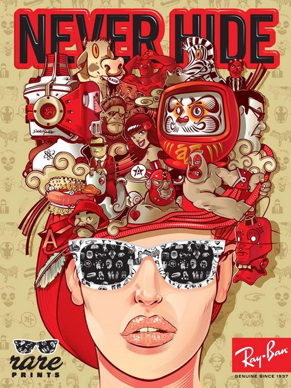 平面设计工作室推荐:24个眼镜宣传海报设计